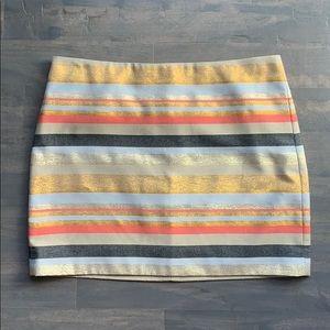 J. Crew Multi Colored Stripes Mini Skirt 8